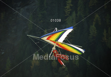 flying paragliding sports Stock Photo