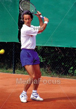 racket hitting tennisracket Stock Photo