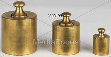 scale weighing weights Stock Photo