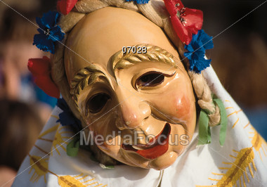 Mardi Gras costumes Stock Photo