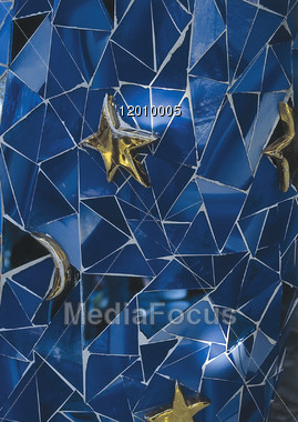 abstract picture blue Stock Photo