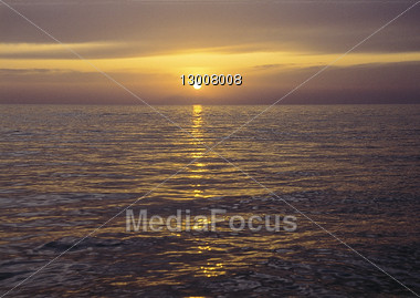 beaches dawn sunsets Stock Photo