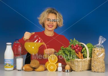raw fruit happiness Stock Photo