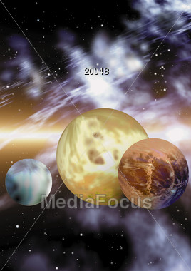 planet stars space Stock Photo