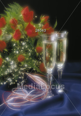 champagne bubbles symbolic Stock Photo