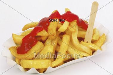 fries frenchfries potatos Stock Photo