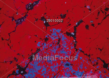 abstract cracks red Stock Photo