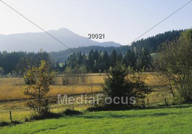 countryside hill mountain Stock Photo