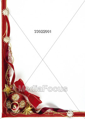 holiday frame red Stock Photo