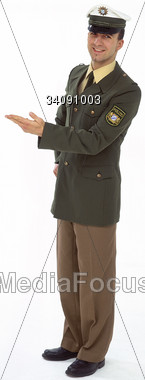 officer uniform symbolic Stock Photo