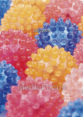 balls spikes colorful Stock Photo
