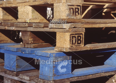 wood palettes backgrounds Stock Photo