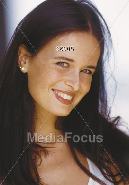 face beautiful happiness Stock Photo