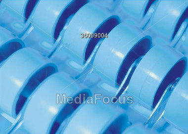 wheel blue plastics Stock Photo