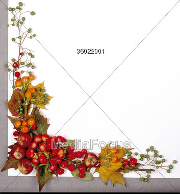 Stock Photo autumn frames christsmas fall clipart - Image 36022001 ...