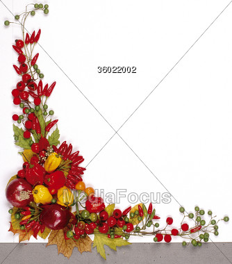 Stock Photo autumn frames christsmas fall clipart - Image 36022002 ...