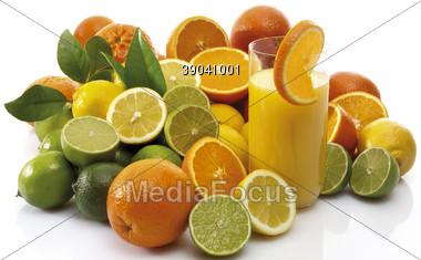 lemons grapefruits beverages Stock Photo