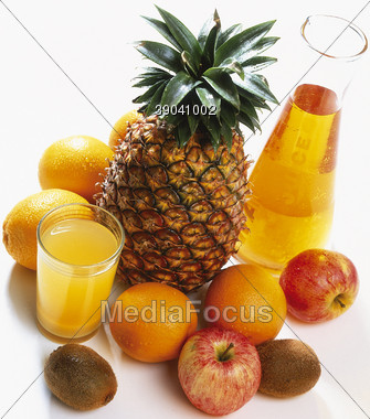 fruits beverages kiwis Stock Photo