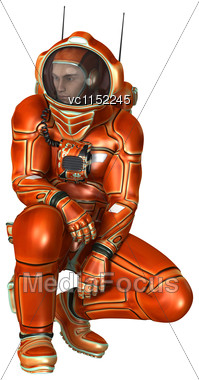 3D Digital Render Of An Astronaut Isolated On White Background Stock Photo