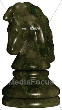 3D Digital Render Of A Chess Piece Knight Isolated On White Background Stock Photo