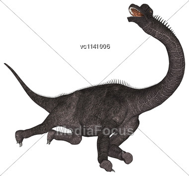 3D Digital Render Of A Dinosaur Brachiosaurus Isolated On White Background Stock Photo