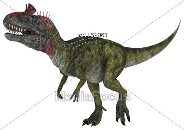 3D Digital Render Of A Dinosaur Cryolophosaurus Isolated On White Background Stock Photo