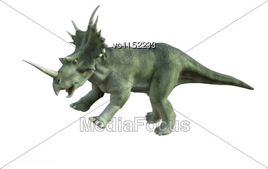 3D Digital Render Of A Dinosaur Styracosaurus Isolated On White Background Stock Photo