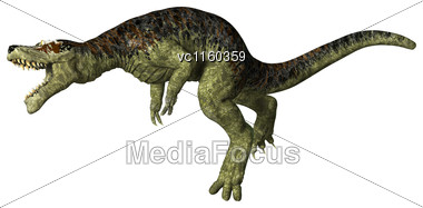 3D Digital Render Of A Dinosaur Tyrannosaurus Rex Isolated On White Background Stock Photo