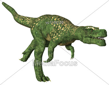 3D Digital Render Of A Dinosaur Tyrannosaurus Isolated On White Background Stock Photo