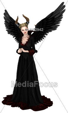 3D Digital Render Of An Evil Queen Isolated On White Background Stock Photo