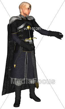 3D Digital Render Of A Handsome Fairytale Prince Isolated On White Background Stock Photo
