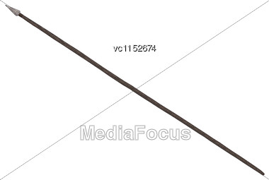 3D Digital Render Of An Indian Spear Isolated On White Background Stock Photo