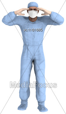 3D Digital Render Of A Male Doctor Isolated On White Background Stock Photo