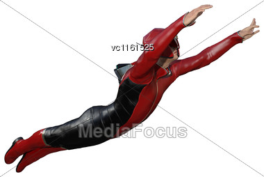 3D Digital Render Of A Male Hero Isolated On White Background Stock Photo