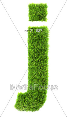 3d Grass Letter - J Stock Photo