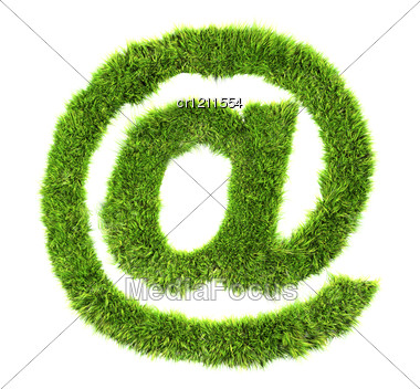 3d Grass Sign - Arobas Stock Photo
