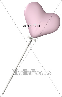 3D Illustration Of A Lollipop Heart Isolated On White Background Stock Photo