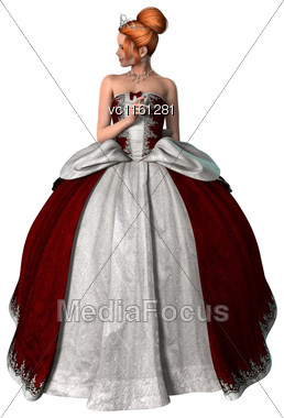 3D Rendering Of A Beautiful Fairytale Princess Isolated On White Background Stock Photo