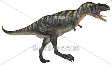 3D Rendering Of A Dinosaur Aucasaurus Isolated On White Background Stock Photo