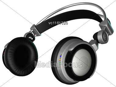 3D Rendering Of A Dj Headphones Isolated On White Background Stock Photo