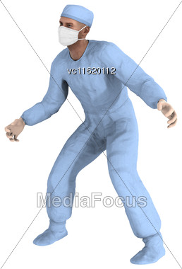 3D Rendering Of A Male Doctor Isolated On White Background Stock Photo