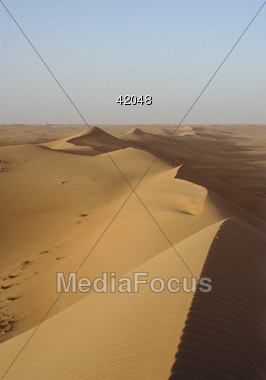 sand dunes desert Stock Photo
