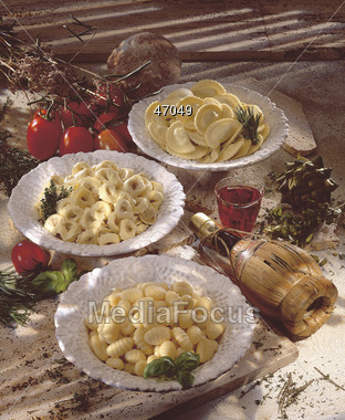 gnocchi italian ravioli Stock Photo