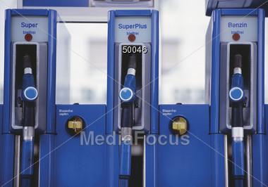 petroluem gasoline gaspump fueling gasstation Stock Photo