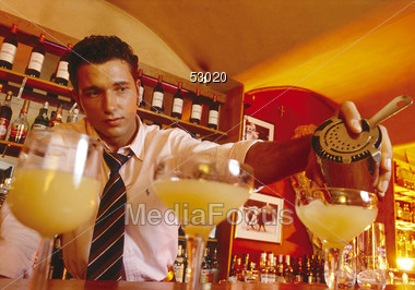 drinking puring male Stock Photo