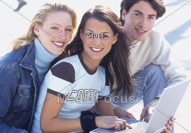 girls teen boys Stock Photo