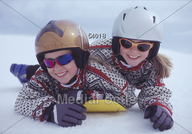 child winter snow Stock Photo