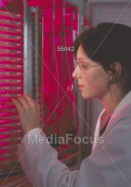 laboratory analysis research Stock Photo
