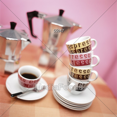 cup espresso coffee Stock Photo