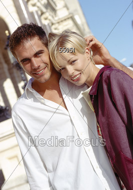affection poses white Stock Photo